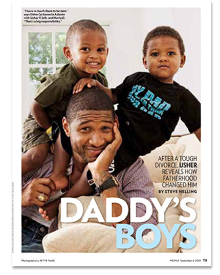 Pic   Usher and His Sons In People Magazine   187  usher-sonsUsher Raymond Sons